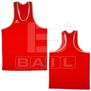 Red box vest (man), Polyester