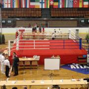 Olympic boxing ring 7.5 x 7.5 m, floor height of 1 m