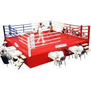 MMA/Thai boxing ring 6.35 x 6.35 m, floor height of 1 m