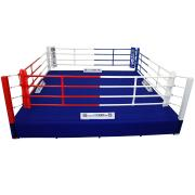 Thai boxing ring 6.30 x 6.30 m, floor height of 0,4 m