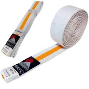Judo belt DUO white/yellow, Cotton