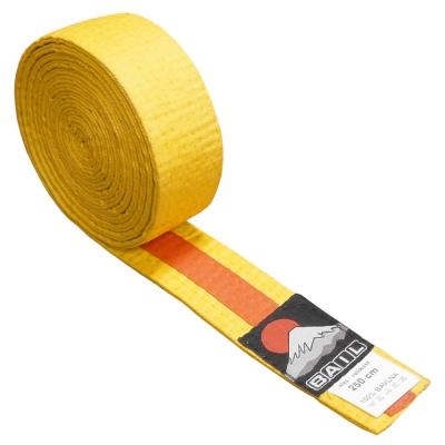 Judo belt DUO yellow/orange, Cotton